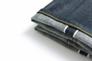 albam pink selvedge denim jeans