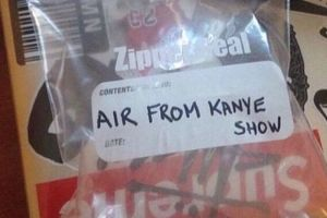 Someone is selling air from the Kanye West Yeezus tour on eBay