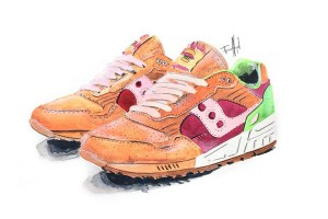END. x Saucony Shadow 5000 'Burger' by Achildcolor