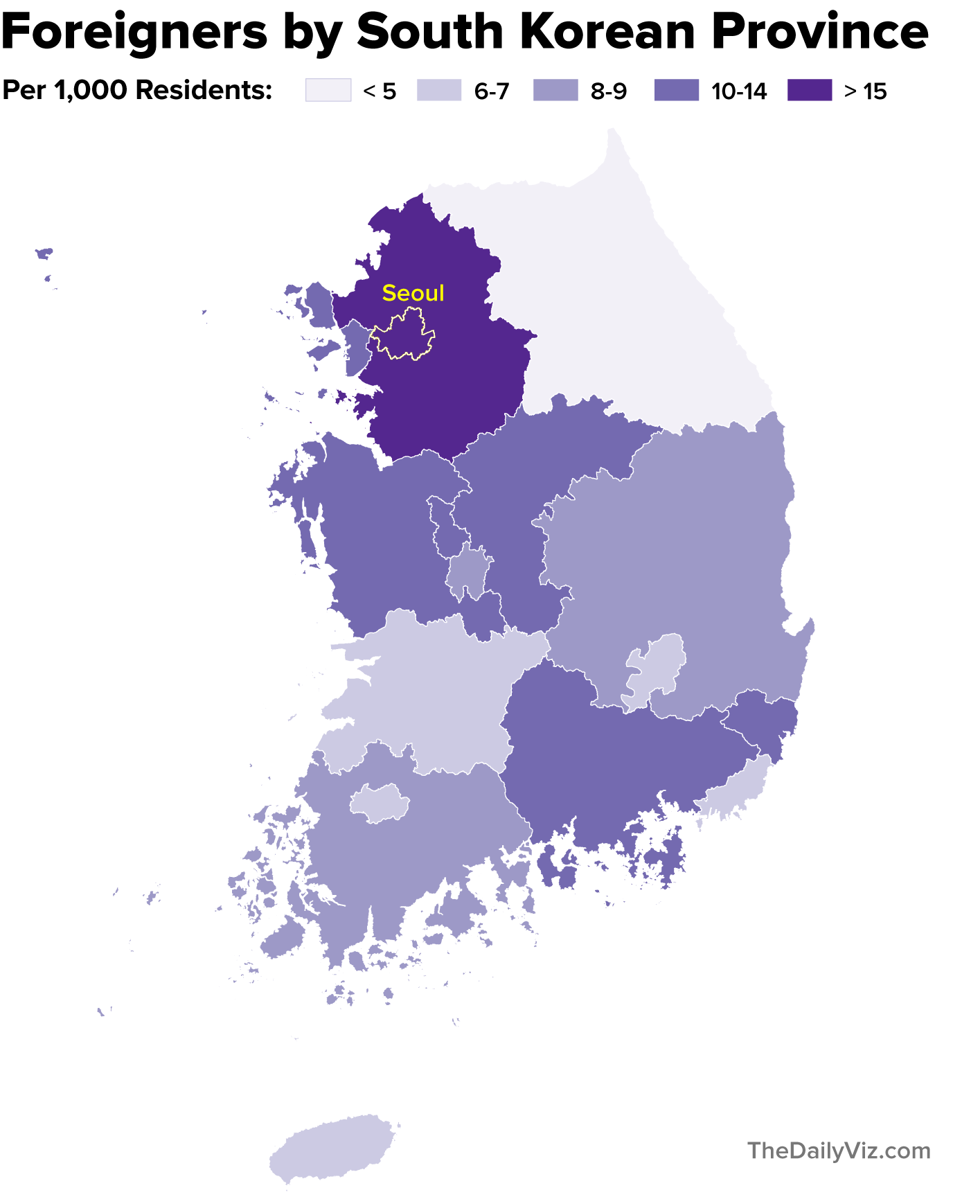Mapping South Korea S Foreigners The Daily Viz
