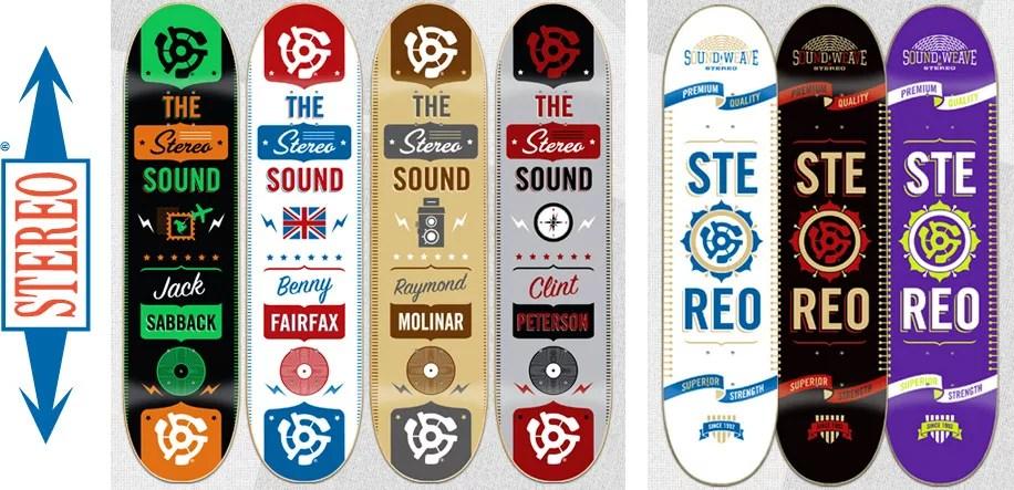 Danger Brain skateboard decks for Stereo Sound Agency