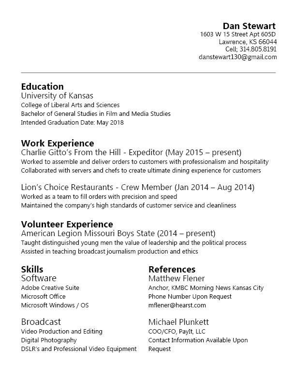 85 exciting free resume sample examples of resumes 89 terrific free - videographer resume