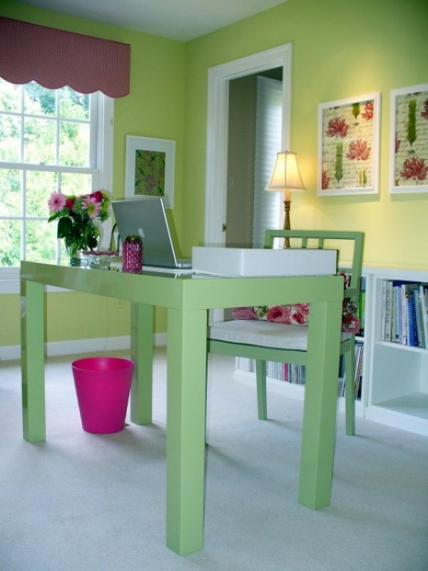 Anns office of Dwelling by Design Feminine and Fun Office Spaces