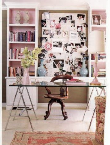 Ruthie Sommers glam office Feminine and Fun Office Spaces