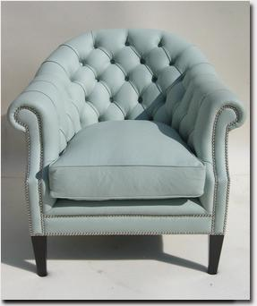 Upholstered Blue Chair Express Yourself
