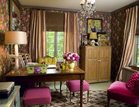 Vintage Look Feminine Office from Country Living Feminine and Fun Office Spaces
