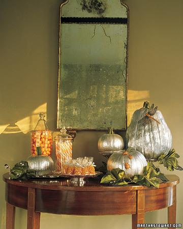 halloween silver pumpkins Halloween, Martha Style