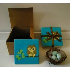 BlueNestDesigns Set of 4 771ACDA7 Hoot if You Love Owls
