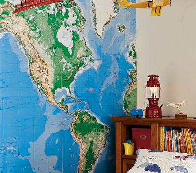 PotteryBarn for Kids Map Mural Decorating with Maps
