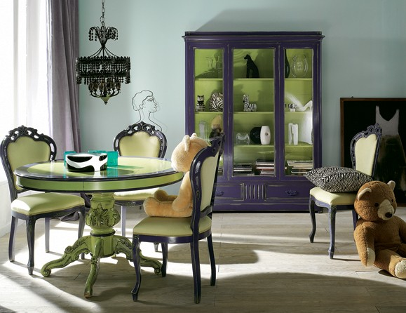 Purple Blue and Green Room via thelennoxfiles Purples, Lavenders, and Blues