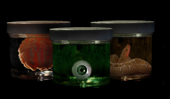 spooky specimens via itsapartypalooza Halloween Specimen Jars