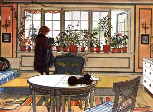 Larsson print Carl Larsson's Inspirational Interiors