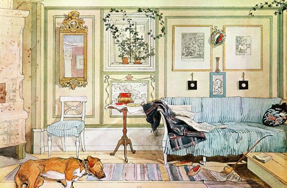 larssons living room Carl Larsson's Inspirational Interiors