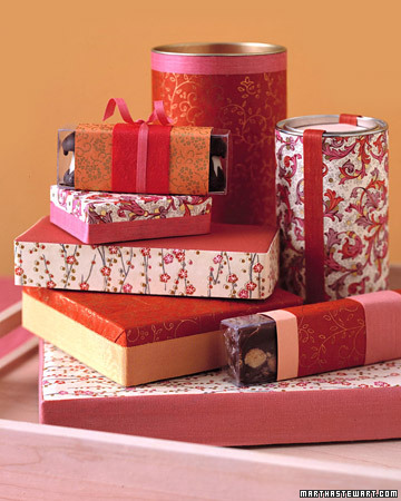 gift wrapped candy boxes by martha stewart Christmas Gift Wrap Inspiration