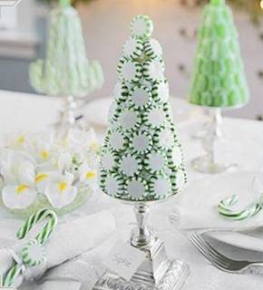 peppermint trees via curbly Decorating with Candy