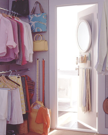 closet pegboard by martha stewart Stylish Storage