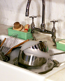dirty dishes Edit and Declutter Your Kitchen