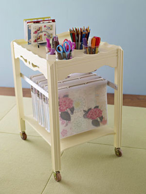 hanging file from old table by bhg Stylish Storage