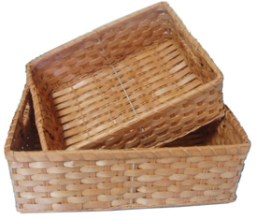 shallow baskets Edit and Declutter Your Kitchen