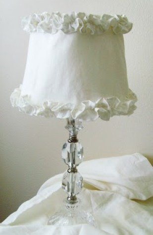 etsy lampshade simple linen Ruffles