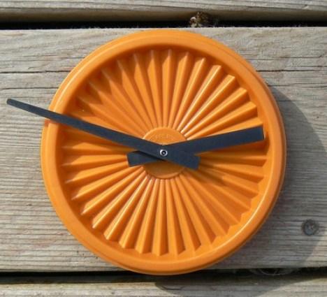 tupperware clock by imotime on etsy Handmade Clocks
