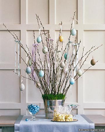easter egg tree via martha Easter Egg Trees