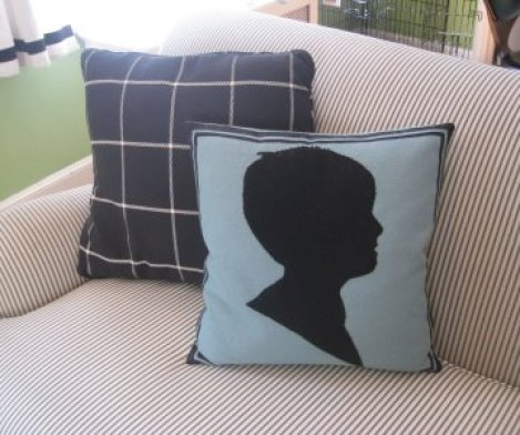 silhouette pillow via mrsblandings blogspot Silhouettes