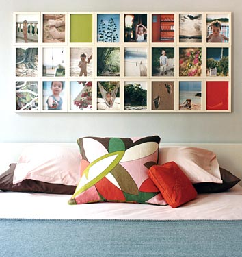 displaying photos from domino via apartmenttherapy Ideas for Displaying Photos