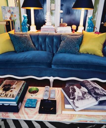 blue velvet sofa Blue Velvet, Baby!