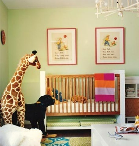 green nursery via st houzz Gender Neutral Nurseries