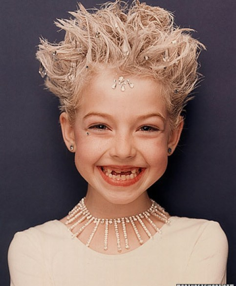 ice hair costume via martha Homemade Costume Ideas for Halloween