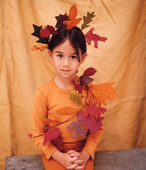 leaf costume via martha Homemade Costume Ideas for Halloween