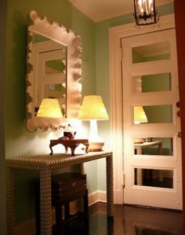 mirror paneled door via blackdogsalvage blogspot Highlights from A Neighborhood Home Tour