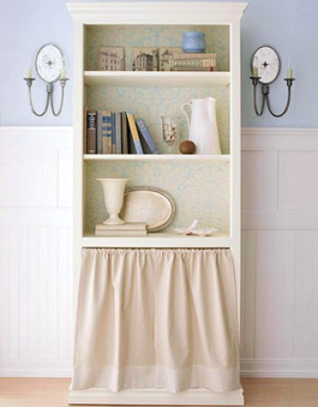 after cottage bookcase via bhg Upcycled Cottage Style Furniture