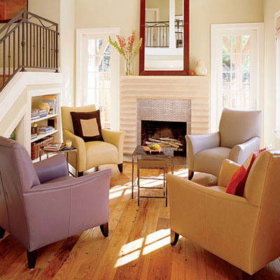 living room chairs via sunset How Light Affects Paint Colors
