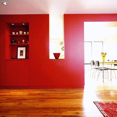 red room via sunset How Light Affects Paint Colors