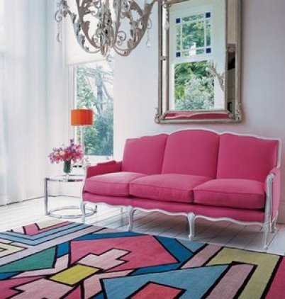 Pink Sofa via creamylife 2011 Color of the Year . . .