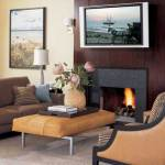 conversation area fireplace via 1decor
