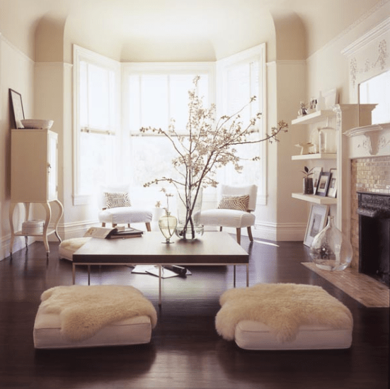 fur on ottomans via luxury furniture design 5 Ways to Instantly Make Your Space Cozy!