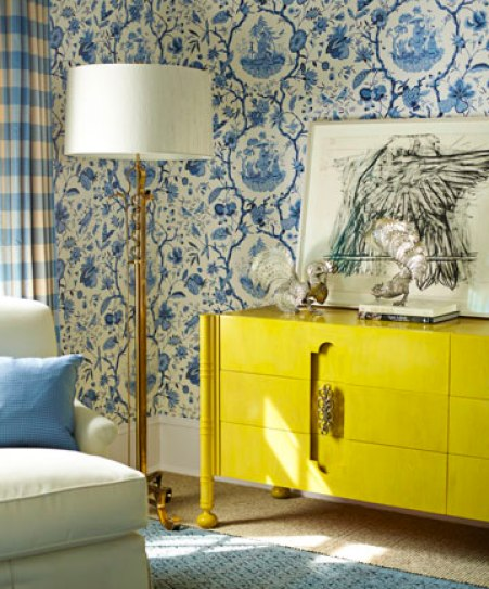 yellow console via hb How to Brighten Your Day with Pops of Yellow