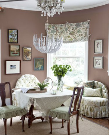 brown dining room via cl Funky Family Home   Hit or Miss?