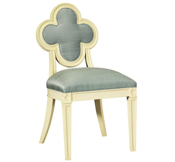 Quatrefoil Chair Side Chair Alexandra via evadesigns Get Lucky with a Little Quatrefoil