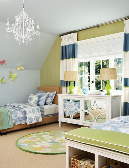 blue and green bedroom via decorpad Obsessed with Blue & Green