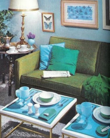 mccalls decorating green blue living room via funisinstyle blogspot Obsessed with Blue & Green