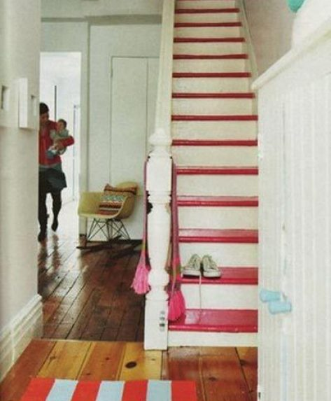 misc pinkPaintedStairs via cozylittlecave Take A Chance On Your Stairs