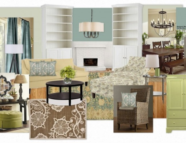 OB E Hughes Inspiration Board  1024x607 A Virtual Design Inspired by Benjamin Moores Turquoise Mist