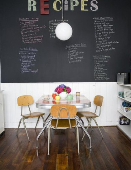 chalkboard paint wall via feaststl Dont Use Chalkboard and Magnetic Paint Until You Read This!