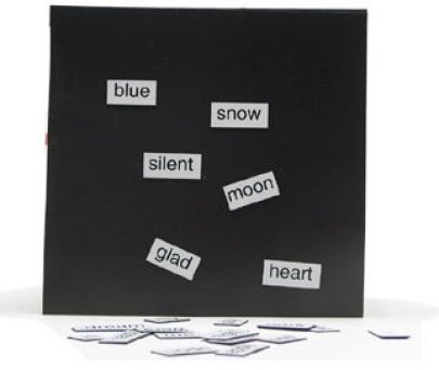 magnetic poetry via bookmakingwithkids Dont Use Chalkboard and Magnetic Paint Until You Read This!