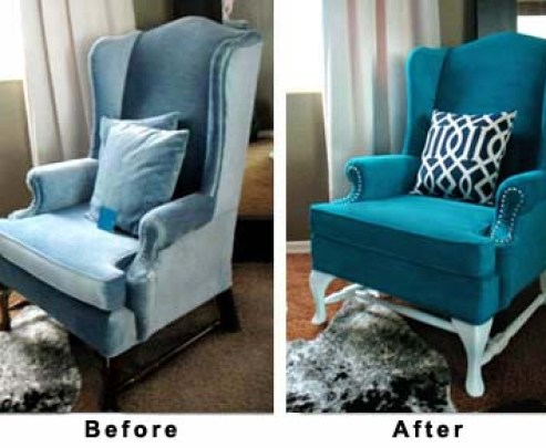 chairbeforeandafter from hypheninteriors 7 Things You Never Thought You Could Spray Paint!