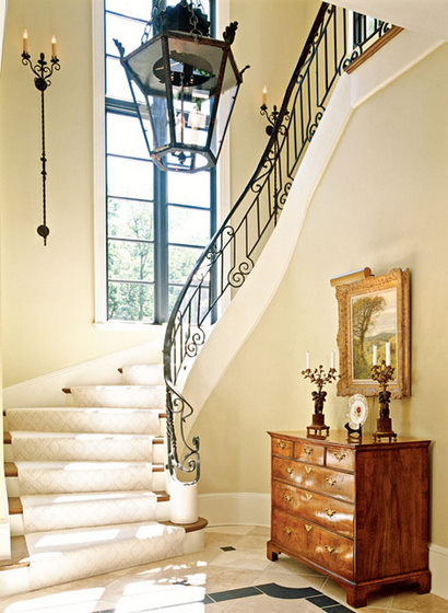 french hallway mj donohue via tradhome Bigger Lighting is Better Lighting